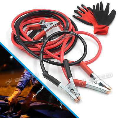 2000AMP Heavy Duty Battery Jump Start Leads 5 Metre Booster Cables Car Van+Glove