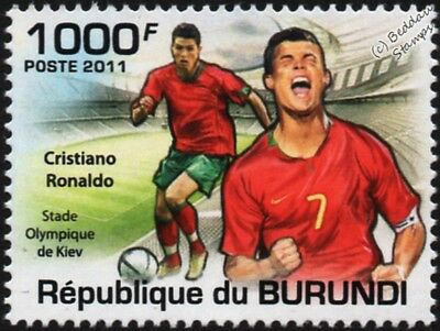 CRISTIANO RONALDO (Portugal) Football Stamp (Olympic Stadium Kiev) (2011)