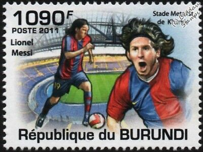 LIONEL MESSI (Barcelona) Football Stamp (Metalist Stadium, Kharkiv) (2011)