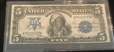 1899 $5 INDIAN CHIEF SILVER CERTIFICATE FR 271 LYONS ROBERTS Lot 35