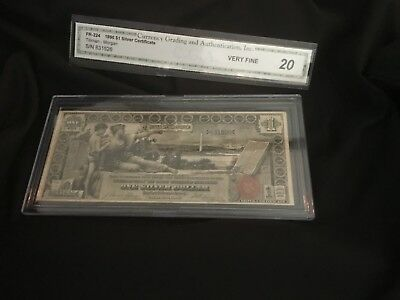 US 1896 $1 Education Silver Certificate FR 224 VF Lo t 36