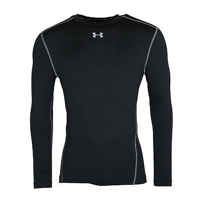 Under Armour Men's ColdGear® Compression Crew Long Sleeve Shirt 1265650 001 BLK