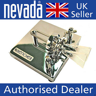 Bencher BY-2  Deluxe Chrome base dual-lever iambic paddle  NEW !