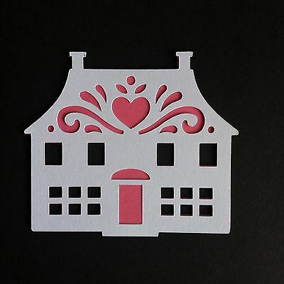 6 X Large Layered Folk House Die Cut Shapes-New Home