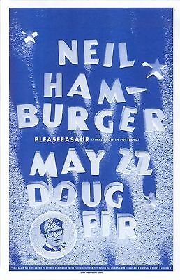 NEIL HAMBURGER 2009 Gig POSTER Comedy Portland Oregon Show