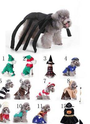 Halloween Christmas Pet Dog Cat Costume Cosplay Fancy Dress Up Clothes Outfits