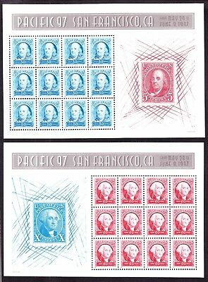 """US 3139-40 1997 """"Pacific 97"""" Mint Sheets Complete Set VF-XF OG NH"""