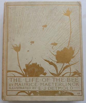 Maurice Maeterlinck. E J Detmold Life Of The Bee 1St Edition 1St Issue 1911.