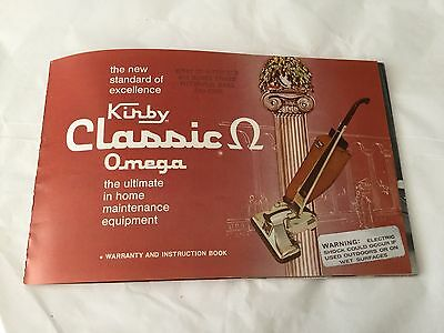 Vintage 1973 Instruction booklet KIRBY Classic Omega
