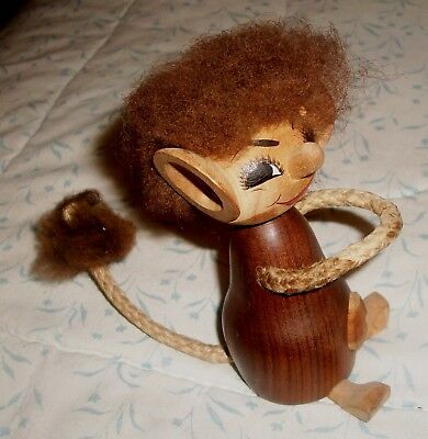 Unusual Kay Bojesen Style  Cheeky Troll Devil Classic Danish Wooden Figurine