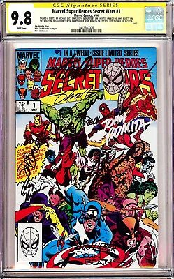SECRET WARS #1 CGC 9.8 SS Signed x10 Stan Lee, Shooter, Romita, Zeck,+6,+Sketch!