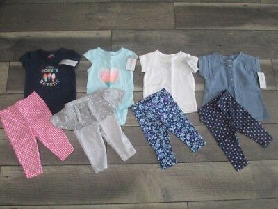 8 piece LOT of baby girl fall clothes size 3 months NWT