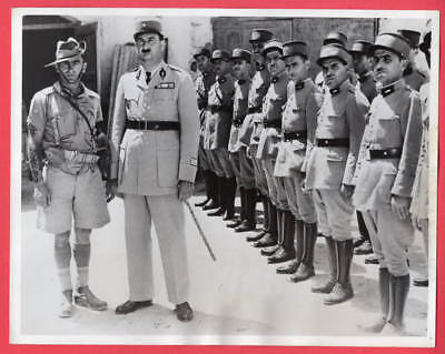 1941 Australian MP with French Chief of Police Sidon Syria 7x9 News Photo