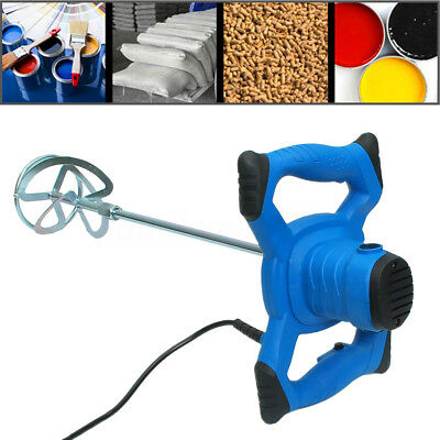 6 Speed Electric Plaster Cement Adhesive Render Paint Drywall Mortar Mixer Tool