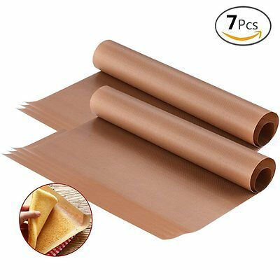 7pcs Teflon Sheet 16x24 Heat Press Resistant Sheet Non Stick Oil-proof Craft