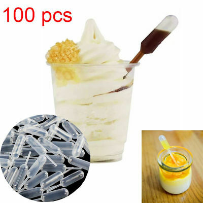 100PCS 4ml Disposable Short Plastic Transfer Pipettes Cupcake Ice Cream