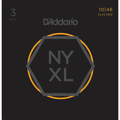 D'Addario NYXL1046 Guitar Strings Light 10-46 - 3 Pack - New