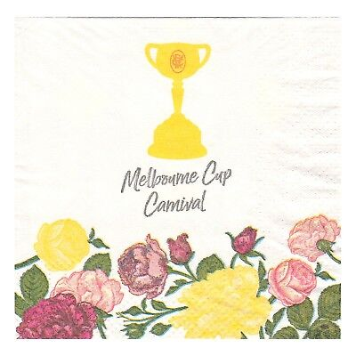 Horse Spring Racing Carnival Melbourne Cup Party 16 Small Napkins Serviettes