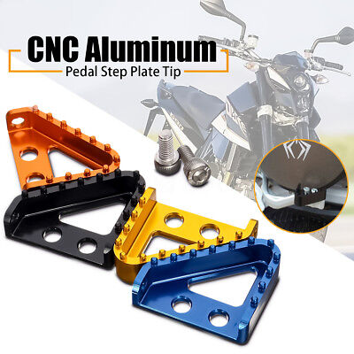 Billet CNC Rear Brake Pedal Step Plate Tip For KTM 125-530 XCF Enduro Motocross