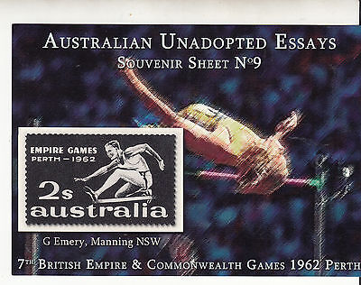 AUSTRALIA Unadopted Essays 1962 Empire Games MUH (cinderella)...
