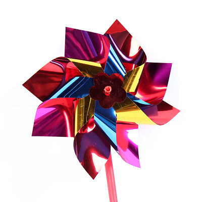 Kid Party Baby Toys Colorful Plastic Pinwheel Wind Spinner Windmill Gifts Game