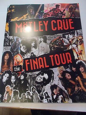 Motley Crue Signed Concert Programme 2014 Ticket And Flyer