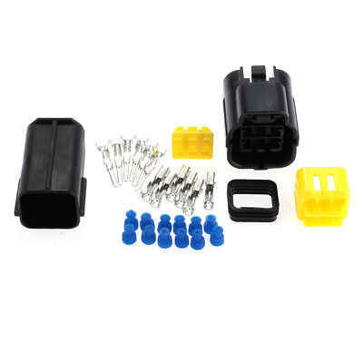 Auto Vehicle 6-Way Waterproof Electrical Wire Cable Connector Plug Kit Durable