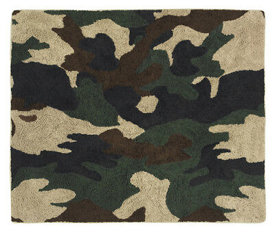 Boys Baby Kids Teen Floor Rug Sweet Jojo Designs Military Camo Green Bedding Set