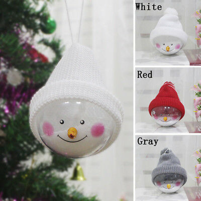 Christmas Decorations Hanging Ball Round Snowman Ornament Xmas Tree DIY Decor