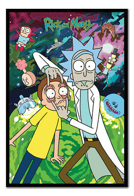 Framed Rick And Morty Watch Poster New