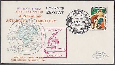Australia Antarctic Territory 1969 Opening Of Repstat Scarce Expedition Cover