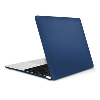 "Hard Case Für Apple Macbook 12"" Dunkelblau Metallic Cover Schutz Hülle"