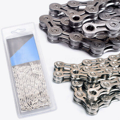 9 Speed 116L MTB Mountain Bike Hollow Super Light Bicycle Chains w/ Magic Buckle