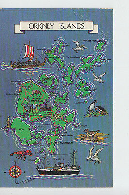 Orkney Islands map card