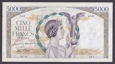 5000 Francs From France 1941 A5
