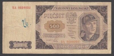 500 Zlotych From Poland 1948 A5