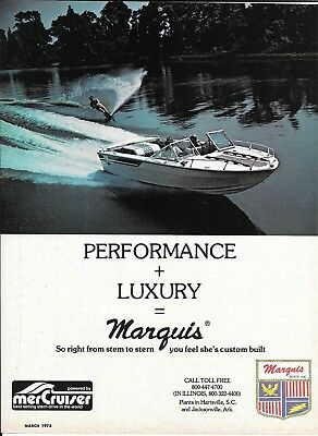 1978 Marquis Boats Color Ad- Nice Photo