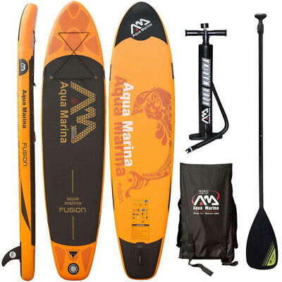 Aqua Marina Fusion 2017 Stand Up Paddle Board Inflatable Paddel Pumpe Sup Isup