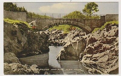 Dumfriesshire postcard - Minnoch Bridge and Pool, Glen Trool