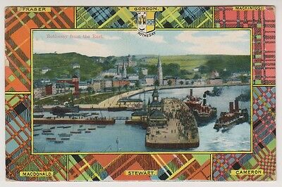 Bute postcard - Rothesay from the East - RP - P/U 1910