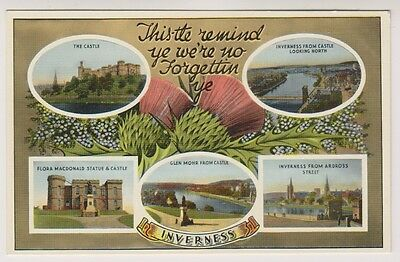 Inverness-shire postcard - Inverness (Multiview)