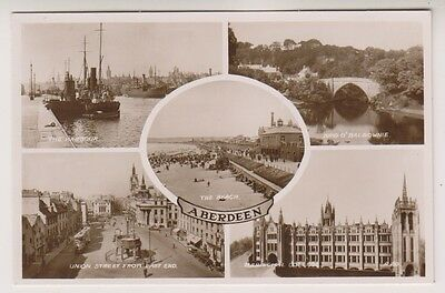 Aberdeenshire postcard - Aberdeen (Multiview showing 5 views) - RP