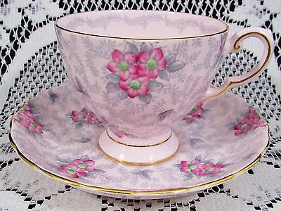 Tuscan Hand Painted Pink Floral Chintz Tea Cup And Saucer