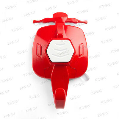 KiWAV bright red suction cup hook white button 1 piece