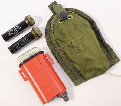 OLDSCHOOL SDU-5 Strobe w/ Pouch Navy SEAL Rescue Light OD Green Sew-On Pouch