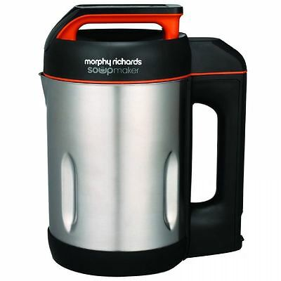 Morphy Richards Soup Maker Brushed Stainless Steel Black Electric Machine 501013