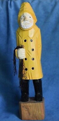 Vintage Gunnarsson Possibly Trygg Old Sea Captain Fisherman 11 3/4 Figure Maine
