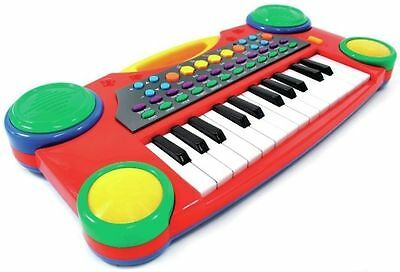 "Children's 16"" Electronic Music Piano Keyboard Kids Christmas Toy Red PS061"