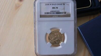 2008 (W) Commemorative $5 Bald Eagle Gold Coin Ngc Ms70