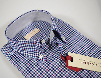 Camicia Regent by Pancaldi Button Down Regular Fit in flanella rasata a quadri